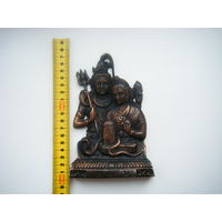 Индийский религиозный барельеф. Метал.