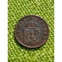 Германия Пруссия 1 пфенниг 1866 г  ( состояние )