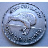 Новая Зеландия. 1 флорин 1934 г.