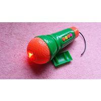 Микрофон игрушка ( детский  ) Караоке . 100 % Рабочий .Распродажа .