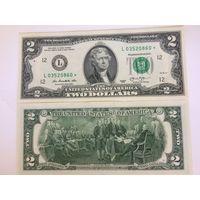 2 доллара США 2013 года, со звездой (звёздная), UNC пресс, L 03520860 *