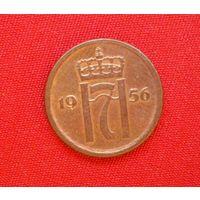1 эре/оре/ Норвегия /1956/ корона