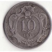 10 геллеров 1894 год