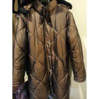 Пальто зимнее и деми с подстежкой женское 48-50 размер, 170 рост
