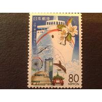 Япония 1997 дельфин, корабль