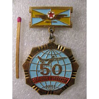 Знак. 50 лет Завитинск. 303-й бомбардировочный авиаполк в/ч 65348. 1991