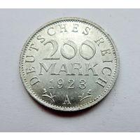 """Германия, 200 марок 1923 г. """"А"""""""