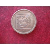 Жетон pflege paradies (монета валидатор Германия, моечный жетон)