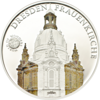 """Палау 5 долларов 2013г. """"Мир Чудес: Дрезденская церковь Фрауэнкирхе"""". Монета в капсуле; сертификат. СЕРЕБРО 20гр."""