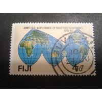 Фиджи 1977 карта мира