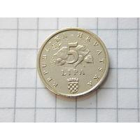 Хорватия 5 липа 2002 (единственная на ау)