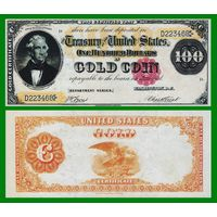 [КОПИЯ] США 100 долларов 1882 г. Золотой сертификат