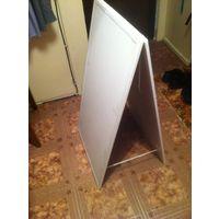 Стенд (штендер) пластиковый прямоугольный двухсторонний
