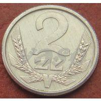 466**  2 злотых 1989 Польша