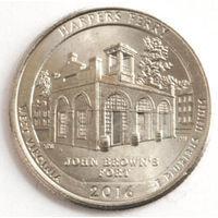 Канада 25 центов 2017 года. 125 лет кубку Стенли