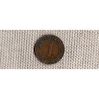 Германия 1 пфенниг 1924 A рейхспфенниг(Ab)