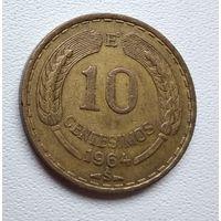 Чили 10 сентесимо, 1964 6-1-8