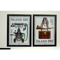 Исландия 1979 (Ми-539-40) Европа-СЕПТ телефон почтальон**