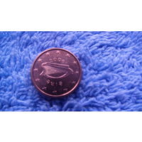 Ирландия 1 евроцент 2006г. штемпельный блеск. распродажа