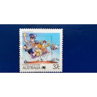 Марка Австралия 1988 год. Почтовые услуги