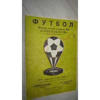 Программа футбольного матча.