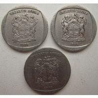 ЮАР 2 ранда 1996, 1998, 2000 гг. Цена за 1 шт. (gl)