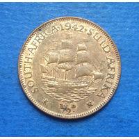 Южная Африка Британский доминион 1/2 пенни 1942 Георг VI