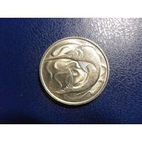 Сингапур 20 центов 1977 г.-меч-рыба
