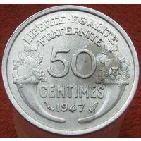 1k Франция 50 сантимов 1947 распродажа коллекции