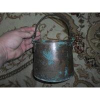 Котелок медный ПМВ 1878 г. клеймо Р.Грошь СПБ надчекан 6 St M B (немецкая военная пекарня) 2 литра отличное состояние