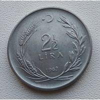 Турция 2,5 лиры, 1963 7-8-18