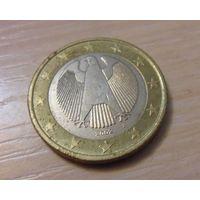 """1 евро Германия 2002 год """"J"""" из коллекции"""