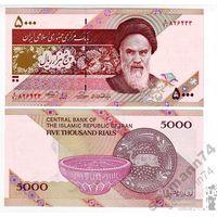 ИРАН 5000 риалов ПРЕСС из пачки UNC