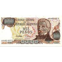 Аргентина 1000 песо образца 1976-83 года UNC p304d(2)