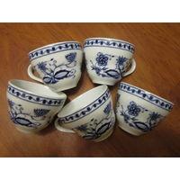 Чашки кофейные Kahla . Луковичный ( луковый ) узор под Мейсен