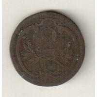 Австрия 2 геллер 1913
