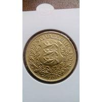 1 крона 1934 эстония. Распродажа!  Старт с 1 рубля.