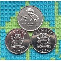Замбия 25 нгве, UNC. Герб Замбии.