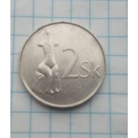 Словакия 2 кроны 2001г.