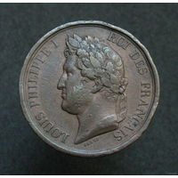 Франция Медаль Луи-Филипп I в память Фердинанда Филиппа Герцога Орлеанского 1842 год