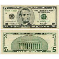 США. 5 долларов (образца 2006 года, P523A)
