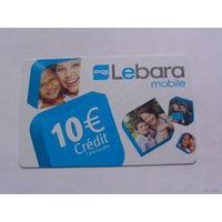 Франция телефонная карточка 10 евро. Lebara mobile No2   распродажа