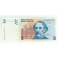 Аргентина, 2 песо  2014 год. UNC