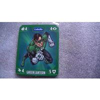 Карточка зеленый супермен. распродажа