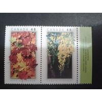 Канада 2003 цветы сцепка совм. выпуск с Таиландом
