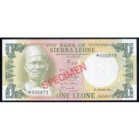 Сьерра-Леоне / SIERRA LEONE_ND(1979)_1 Leone_Specimen_P#CS2_UNC