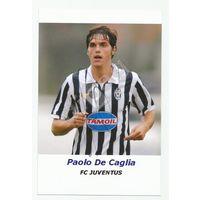 Paolo De Caglia(Juventus, Италия). Живой автограф на фотографии.