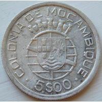 16. Мозамбик Португальский 5 эскудо 1949 год, серебро*