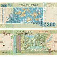 Судан 200 фунтов образца 2019 года UNC