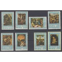 Религия. Живопись. Панама. 1967. 6 марок (полная серия) и 2 марки из блоков. Michel N 966-973 (53,0 е)